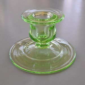 ⭐️2/$10⭐ Green Depression Glass Candle Holder